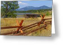 Old Ranch Wagon Greeting Card