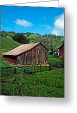 Old Red Barn Greeting Card by Kathy Yates