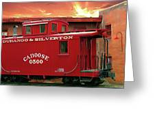 Old Red Caboose 500 Greeting Card