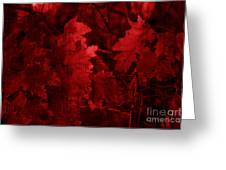 Old Red Greeting Card by Marjorie Imbeau