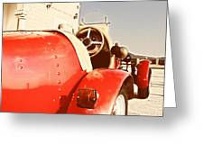 old Red Race Car Greeting Card