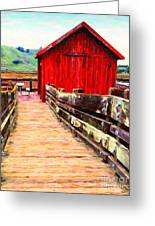 Old Red Shack Greeting Card by Wingsdomain Art and Photography