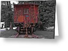 Old Red Train Greeting Card