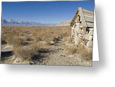 Old Rock Cabin At Dolomite Greeting Card by Rich Reid