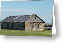 old rock house in ND. Greeting Card