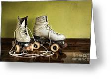 Old Roller-skates Greeting Card