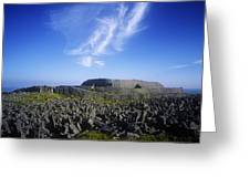 Old Ruins Of A Fort On The Landscape Greeting Card