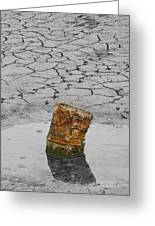 Old Rusted Barrel Abstract Greeting Card