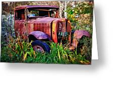 Old Rusting Truck Greeting Card