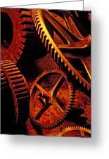 Old Rusty Gears Greeting Card