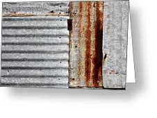 Old Rusty Sheet Metal Greeting Card