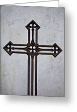 Old Rusty Vintage Cross Greeting Card