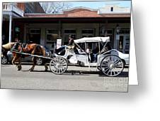 Old Sacramento California . Horse Drawn Buggy . 7d11482 Greeting Card by Wingsdomain Art and Photography