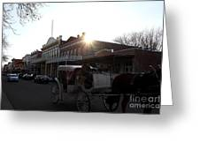Old Sacramento California In Partial Silhouette . 7d11719 Greeting Card