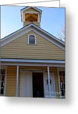 Old Sacramento California . Schoolhouse Museum . 7d11579 Greeting Card by Wingsdomain Art and Photography