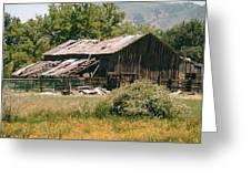 Old Saisia Barn In Spring Greeting Card