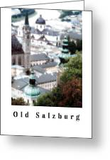 Old Salzburg Poster Greeting Card