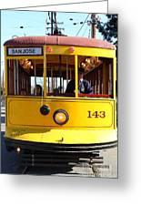 Old San Jose Railroads Cablecar Trolley 143 . San Jose California . 7d12963 Greeting Card