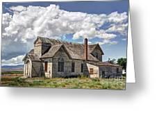 Old Schoolhouse - Ovid - Idaho Greeting Card