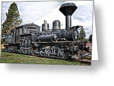 Old Shay Locomotive Greeting Card