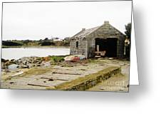 Old Shed By The Sea Greeting Card