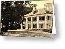 Old Southern Plantation Greeting Card