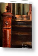 Old Staircase Greeting Card by Jill Battaglia