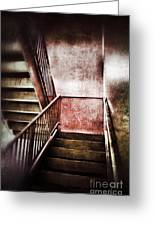 Old Stairwell Greeting Card