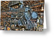 Old Steam Locomotive Greeting Card