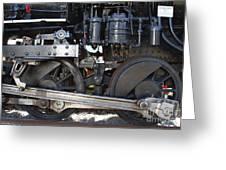 Old Steam Locomotive Engine 1258 . Wheels . 7d13000 Greeting Card