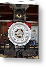 Old Steam Locomotive Engine 5 . The Little Buttercup . 7d12920 Greeting Card