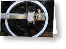 Old Steam Locomotive Engine 5 . The Little Buttercup . Train Wheel . 7d12916 Greeting Card