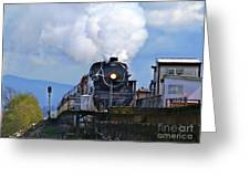 Old Steam Train  Greeting Card