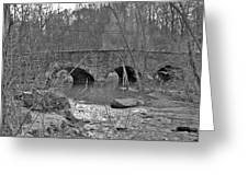 Old Stone Bridge Over The Unami Creek - Sumneytown Pa Greeting Card