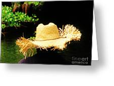 Old Straw Hat Greeting Card