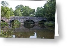 Old Sumneytown Pike Bridge Over The Perkiomen Creek Greeting Card