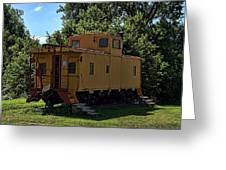 Old Time Caboose Greeting Card