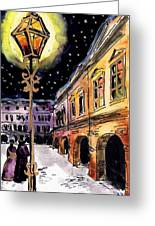 Old Time Evening Greeting Card