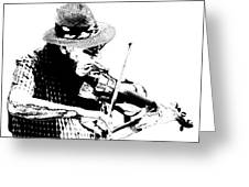 Old Time Fiddle Player No.560 Greeting Card