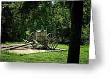 Old Time Pump Wagon Greeting Card