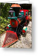 Old Time Train Greeting Card