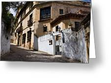 Old Town In Ronda Greeting Card