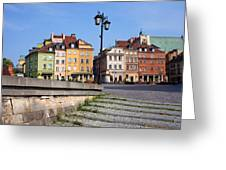 Old Town In Warsaw Greeting Card