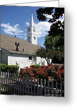 Old Town Mystic Church Greeting Card