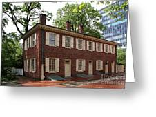Old Town Philadelphia Brownstone House Greeting Card