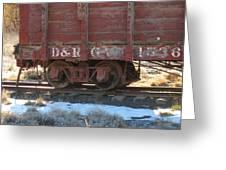 Old Train Boxcar Greeting Card
