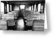 Old Train Compartment Greeting Card by Falko Follert