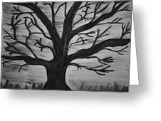 Old Tree With No Leaves Greeting Card
