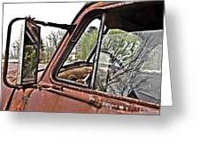 Old Truck Mirror Greeting Card