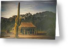 Old Tucson Home Greeting Card